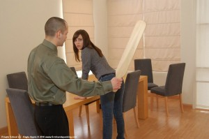 school discipline with a paddle