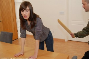 high school girl paddled corporal punishment