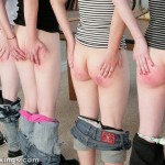 Their teen bottoms are very bruised as a result of real school corporal punishment.