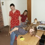 two girls paddled by the principal in high school 13