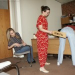 two girls paddled by the principal in high school 7