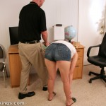girls bending over for a high school corporal punishment paddling 4