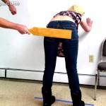 girls bending over for a high school corporal punishment paddling 6