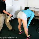 high school corporal punishment paddling yoga pants short shorts 26