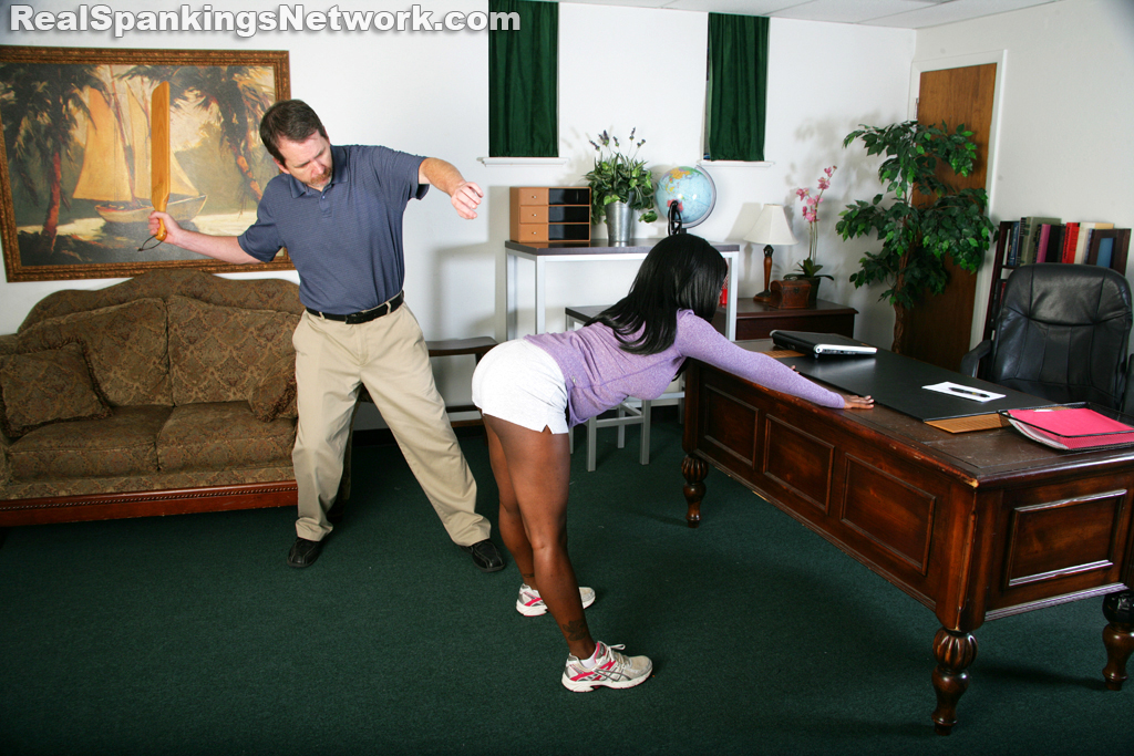 Real Spankings - Paddled By The Principal (part 1 Of 2